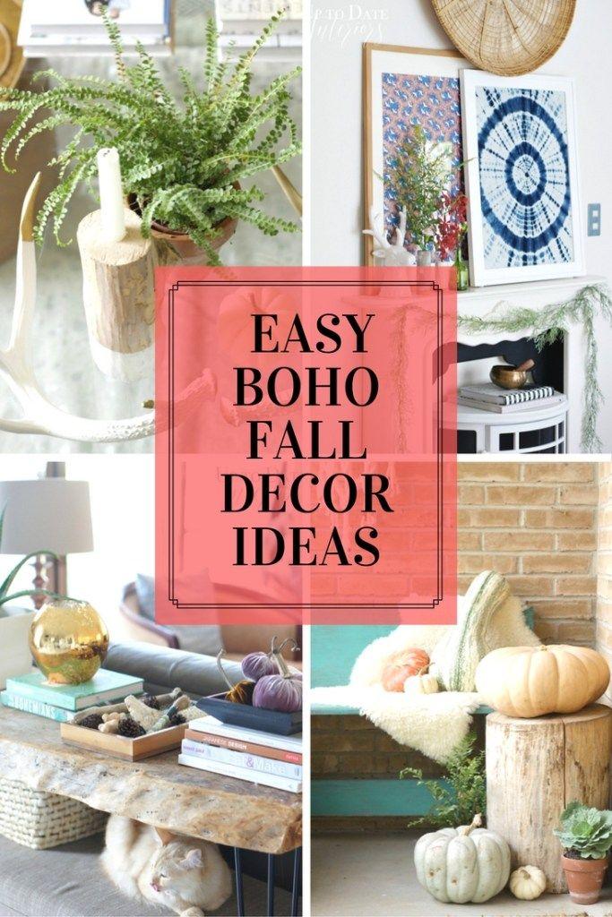 Simple Easy Boho Fall Decor Ideas That Ll Rock Your Socks Boho Fall Decor Fall Decor Fall Decor Diy