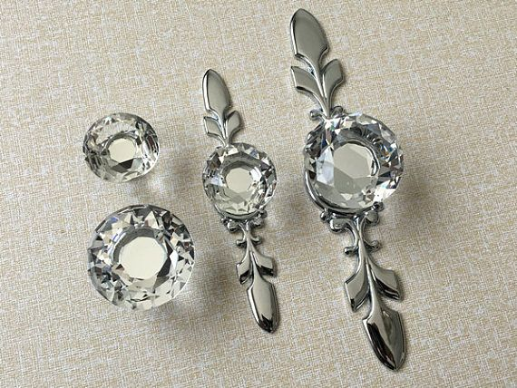 Crystal Knob Rhinestone Dresser Knobs Glass Drawer Knob Pulls ...