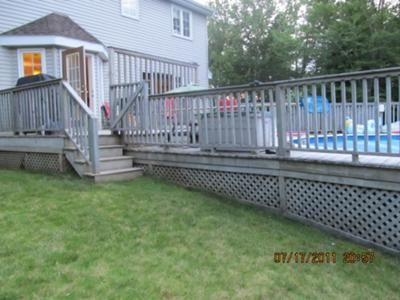 Above ground pool with deck attached to house Deck Plan Above Ground Pool Decks Attached To House Google Search Thedaymygoddiedcom Above Ground Pool Decks Attached To House Google Search Pool