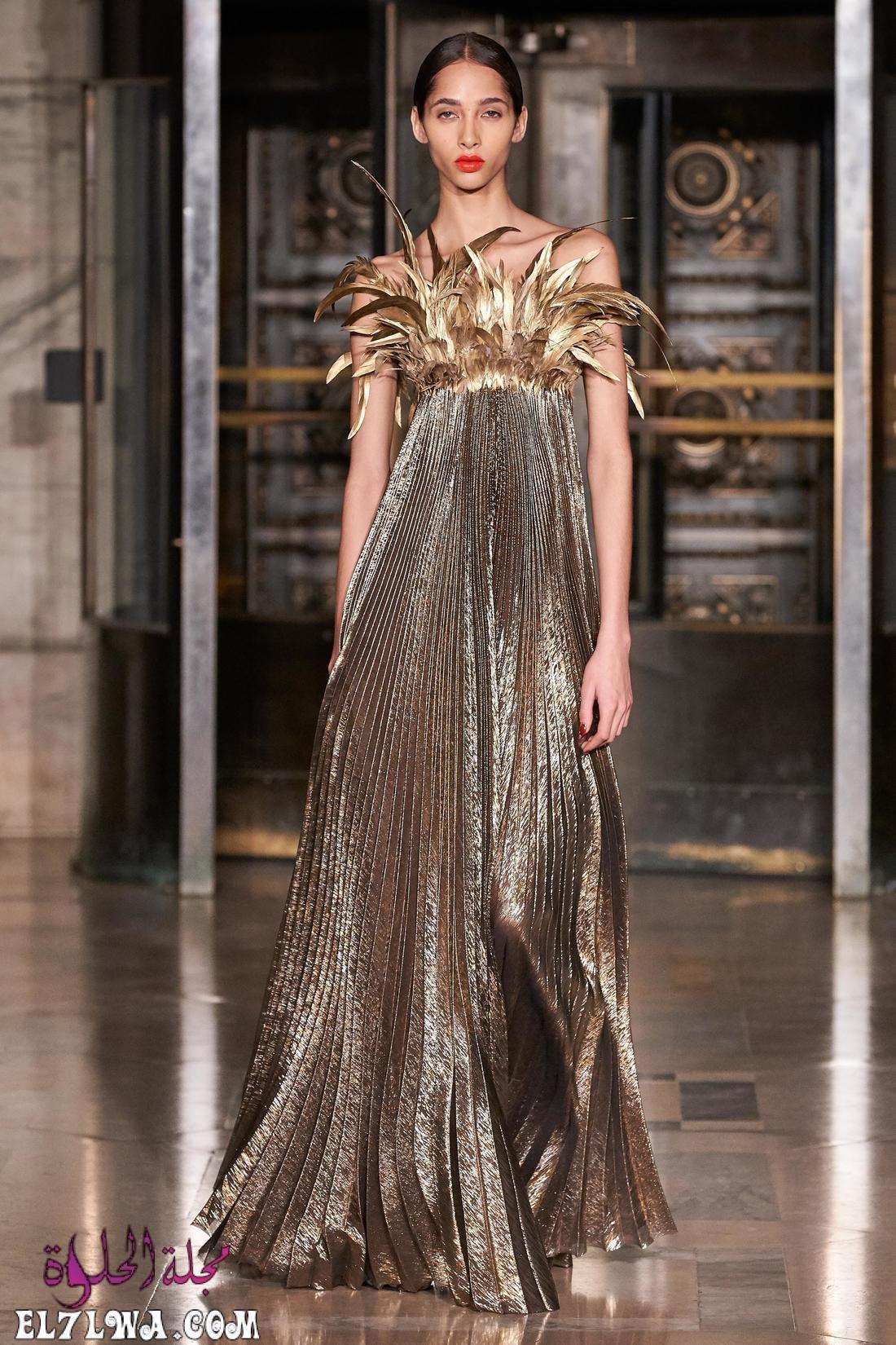 اجمل فساتين سهرة 2021 موديلات فساتين سهرة موضة 2021 قد م المصممون مجموعة من أجمل فساتين سهرة لعام ٢٠٢١ مزينة بالترتر و Fashion High Fashion Looks Fashion Week