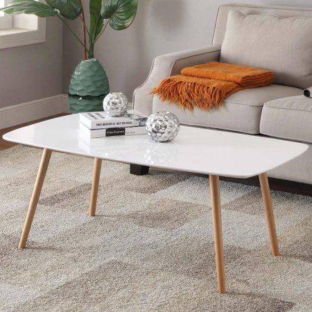 Free Shipping Buy Yaheetech Modern Pine Coffee Table White Gloss - Pine coffee table for sale