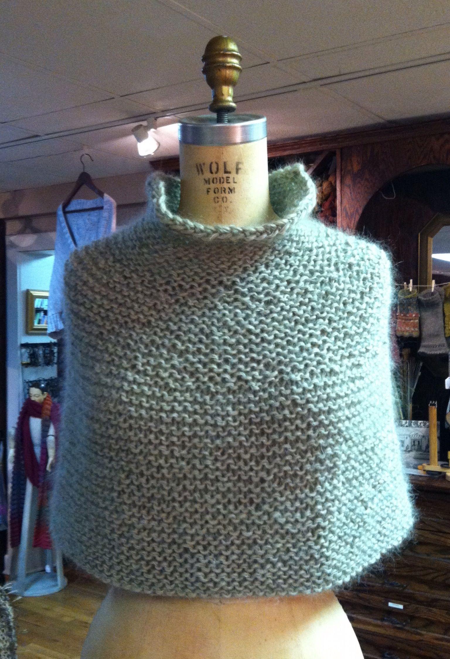 Karen\'s Shoulder Cozy from the Churchmouse pattern, using Rowan ...