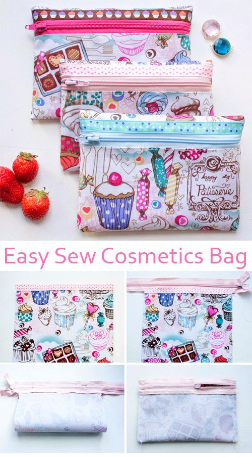 A very simple makeup bag for beginners. #diytutorial
