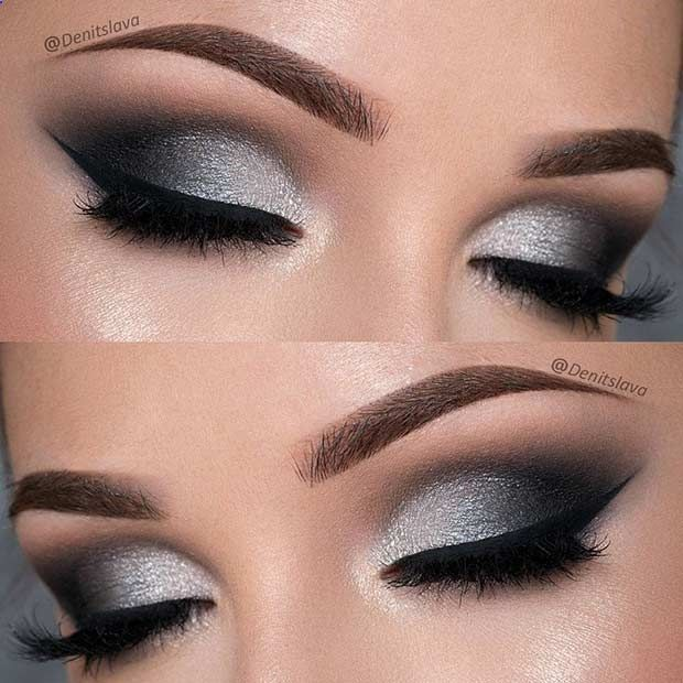 Eye Makeup Dramatic Black And Silver Prom Eye Makeup Look Ten