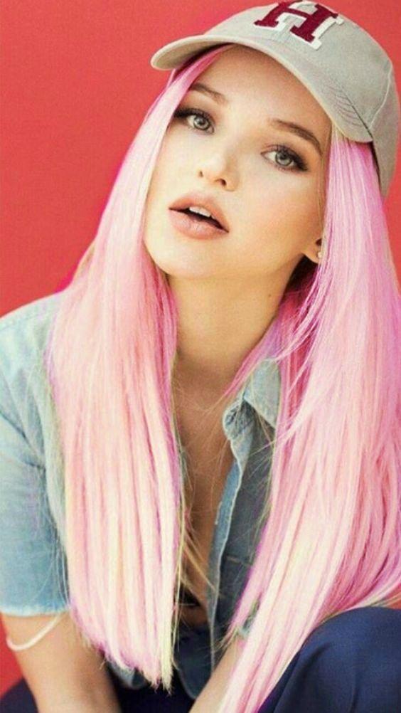 Dove Cameron Pink Hair Created By Kira The Trickster Using Ipiccy Cabelo Rosa Dove Cameron Meninas Tumbler