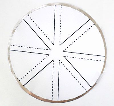 Windmill Template Taped To Aluminum Circle  Arsh