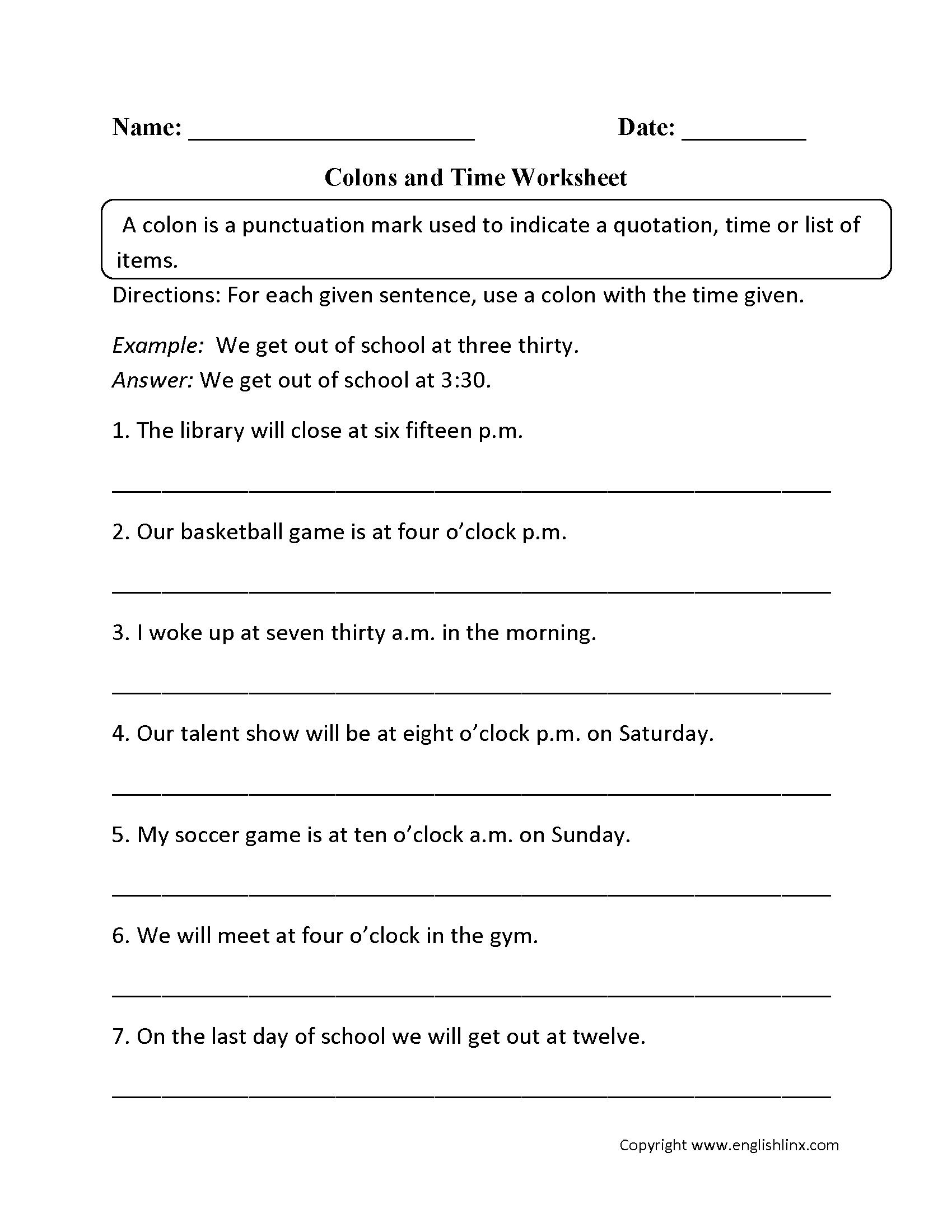 Grammar Worksheets   Punctuation Worksheets   Punctuation worksheets [ 2200 x 1700 Pixel ]