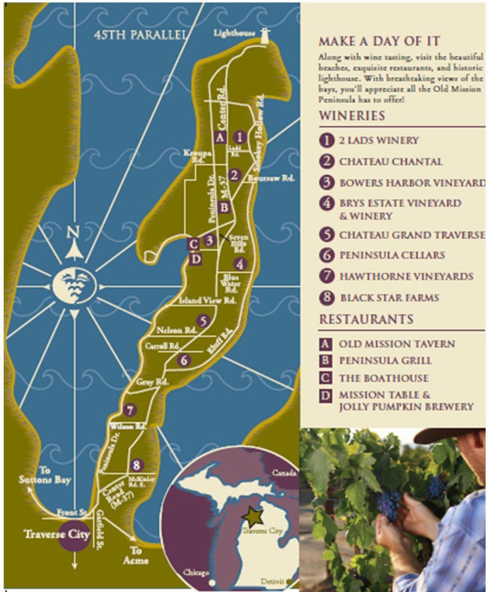 Traverse City Winery Tour Map