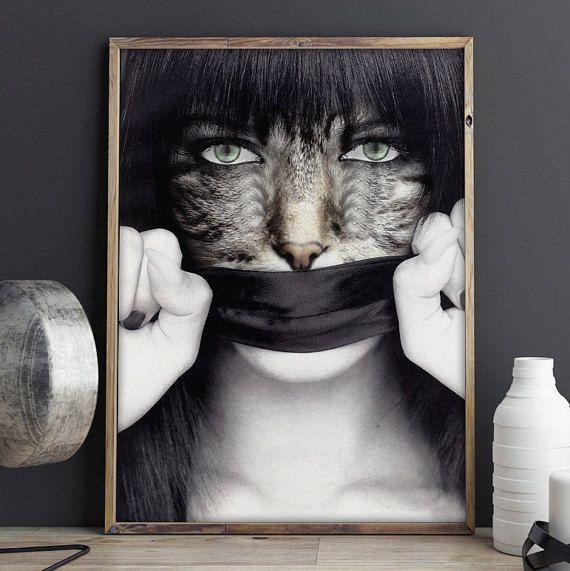9 Lives  Printable Art Naturemorphosis Face of von naturemorphosis