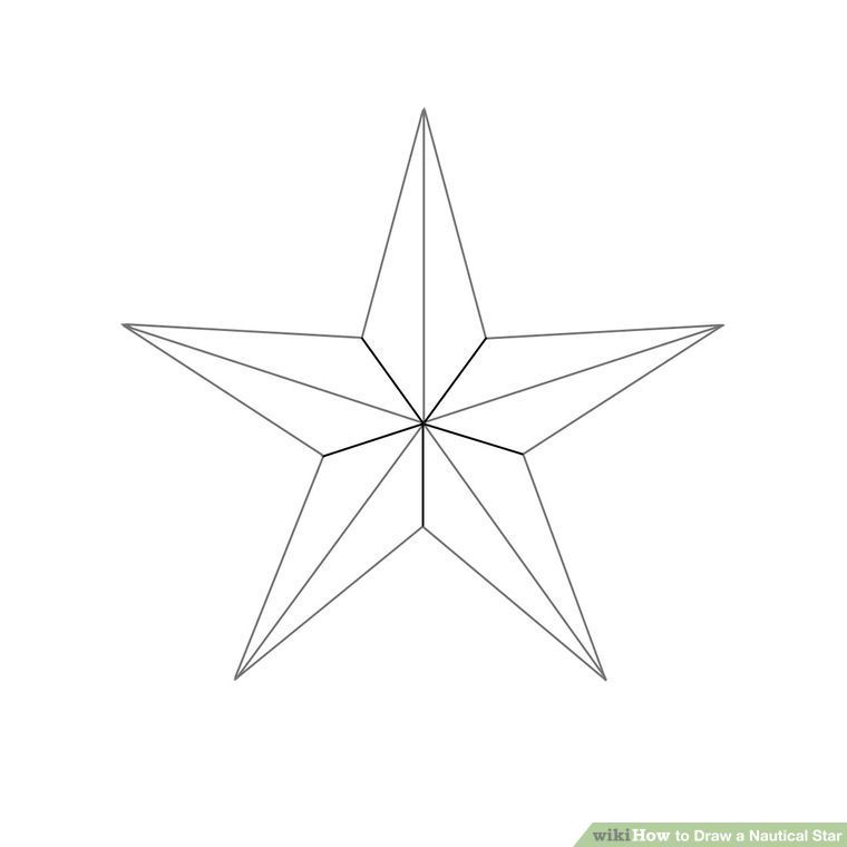 How To Draw A Nautical Star 6 Steps With Pictures Nautical Star Tattoos Nautical Star Drawing Stars