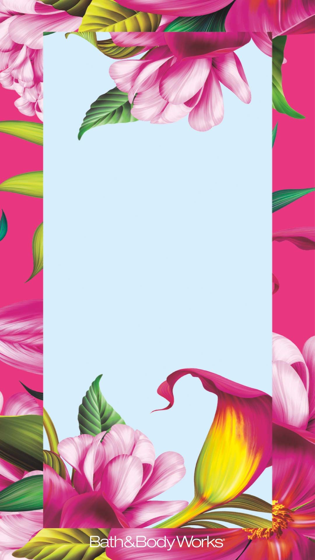 Pink Tropical Flowers iPhone Wallpaper Wallpaper iphone