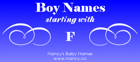 Boy Names That Start With The Letter F Each Name Links To A Popularity Graph