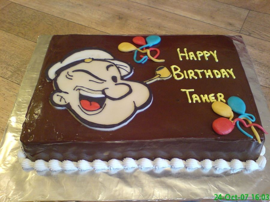 Cake Decor Without Fondant : Popeye cake without fondant Cake ideas Pinterest ...