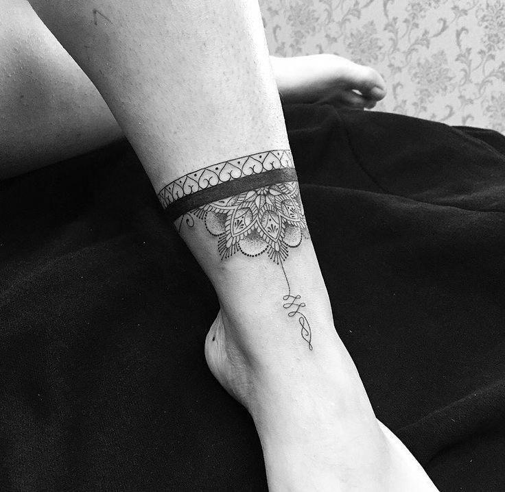 Tattoo anklet design idea! Cuff tattoo, Foot tattoos