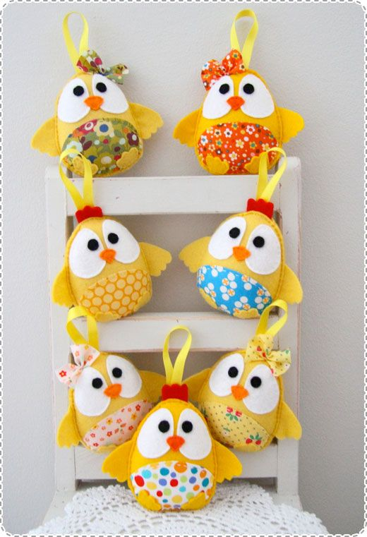Plushka handmade softies easter gifts chicks chickens easter handmade softies for easter could make larger as pillow or smaller as hang in decorations negle Choice Image