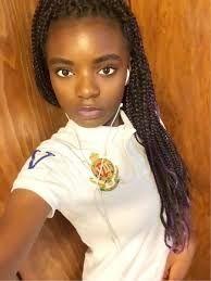 Ebony girl selfies