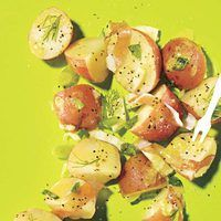 Summer Party Menu, SALAD | Potato Salad with Fennel and Prosciutto #RRMenuPlanner