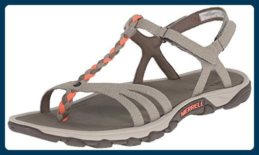 49ad4df0b6bc Merrell Women s Enoki Twist Strappy Sandal  Enjoy the outdoors longer and  stay fresh in these extra-grippy hydro-hikers. A synthetic leather upper  sheds ...