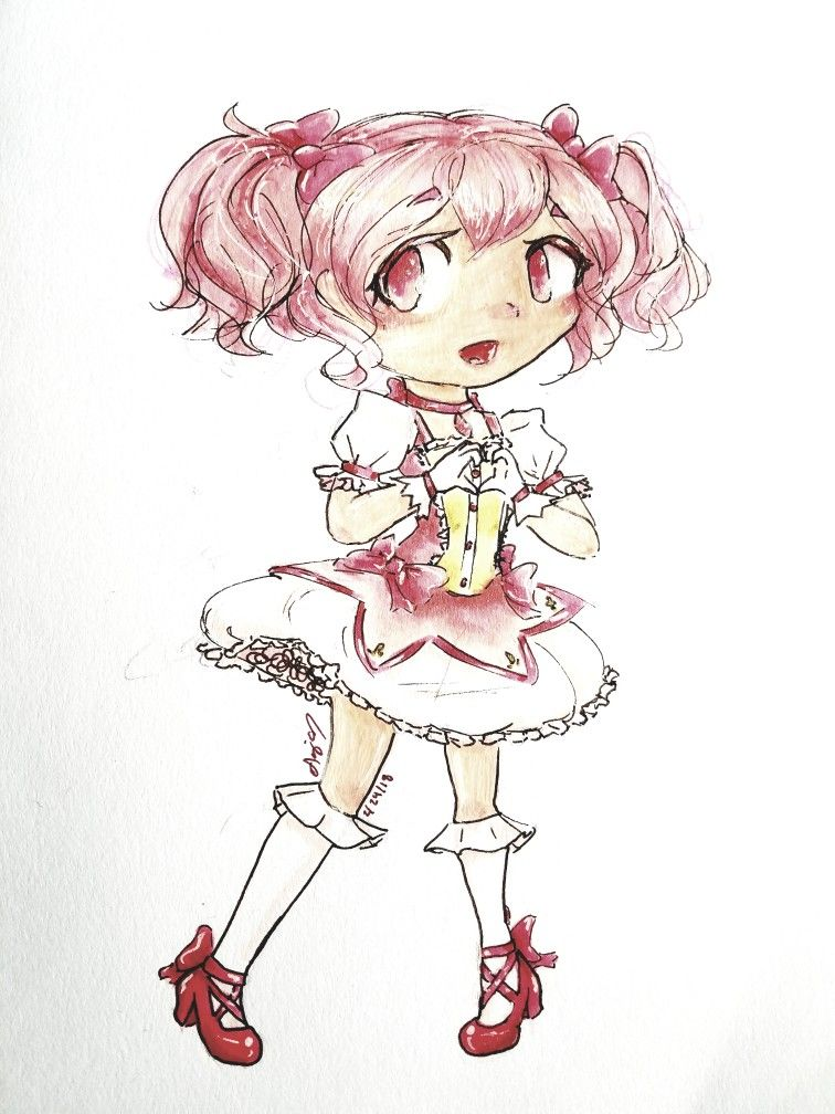 Fanart Of Madoka Kaname Feom Puella Magi Magica I Like How It Turned Out Especially With Some Help From Filters