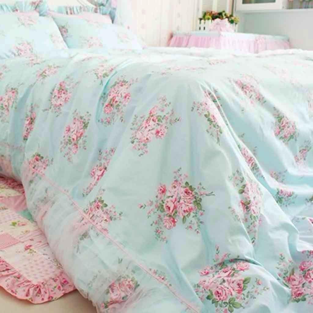 Shabby Rose Duvet Cover Set Rose Bedding Shabby Chic Bedding Shabby Chic Room