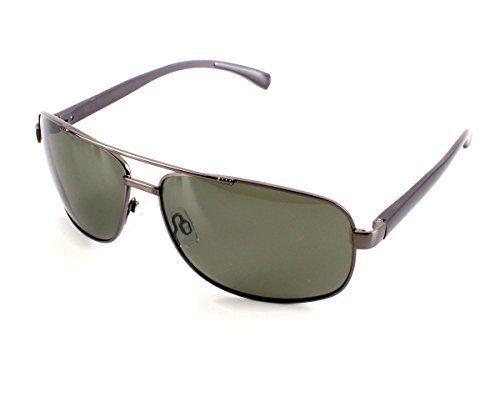 Herren Alu Sonnenbrille Polarisierend Piloten Matrix Fram Aviator New Wayfahrer, Rahmenfarbe:Grün