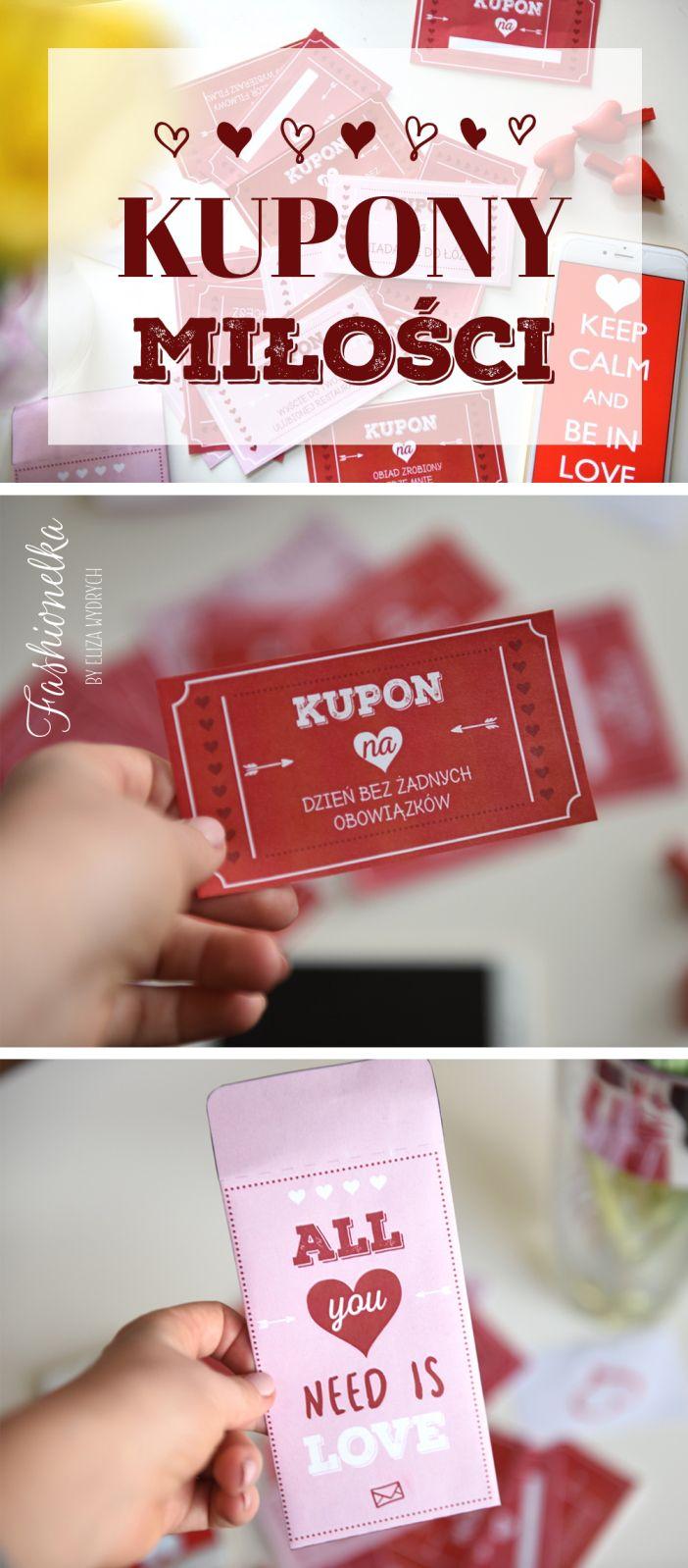 Diy Kupony Walentynkowe Do Druku Milosci With Images Kupony