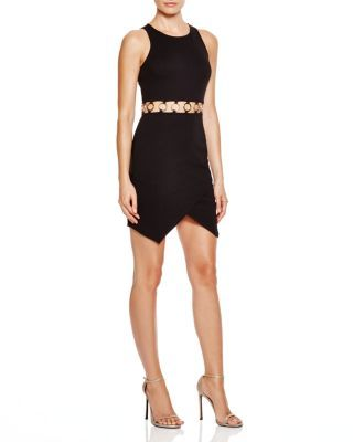 AQUA Ponte Cut-Out Mini Dress - 100% Bloomingdale's Exclusive | Bloomingdale's