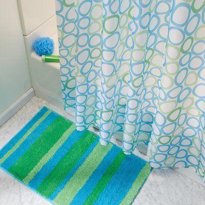 Latitude Run Barowsky Bath Rug Colour Blue Green Colorful Rugs