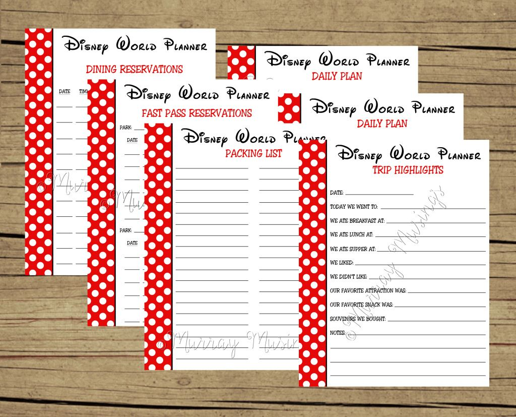 FREE Printable Disney World Vacation Planner # ...