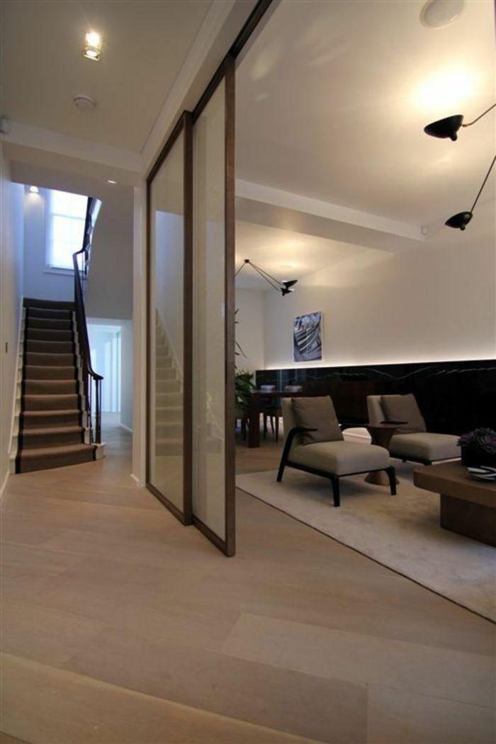 ▷ 1001+ Idées pour la séparation chambre salon + des intérieurs - escalier interieur de villa