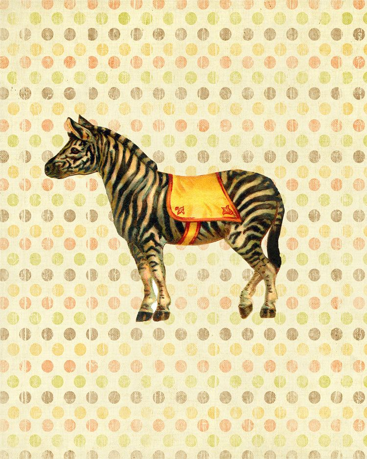 Zara the Circus Zebra - Print - 8x10 - Modern Nursery Wall Art Print ...