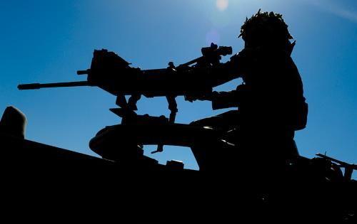15 Sqn RAF Regiment on Patrol in Afghanistan during OP HERRICK 17.