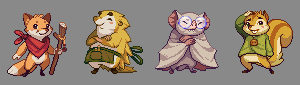 Four Fine Forest Friends Icon, Pixel Art, Buddy Icons, Forum Avatars
