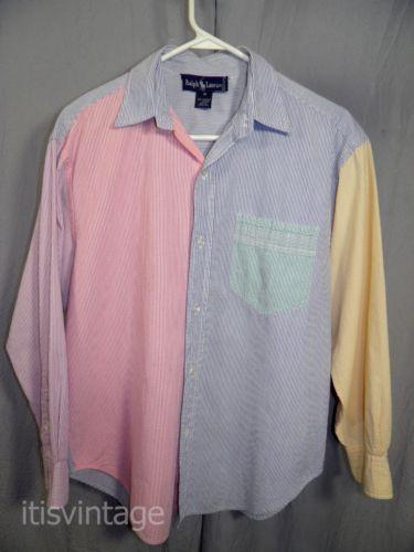 Seersucker Blouse Pastel Pink Button Up