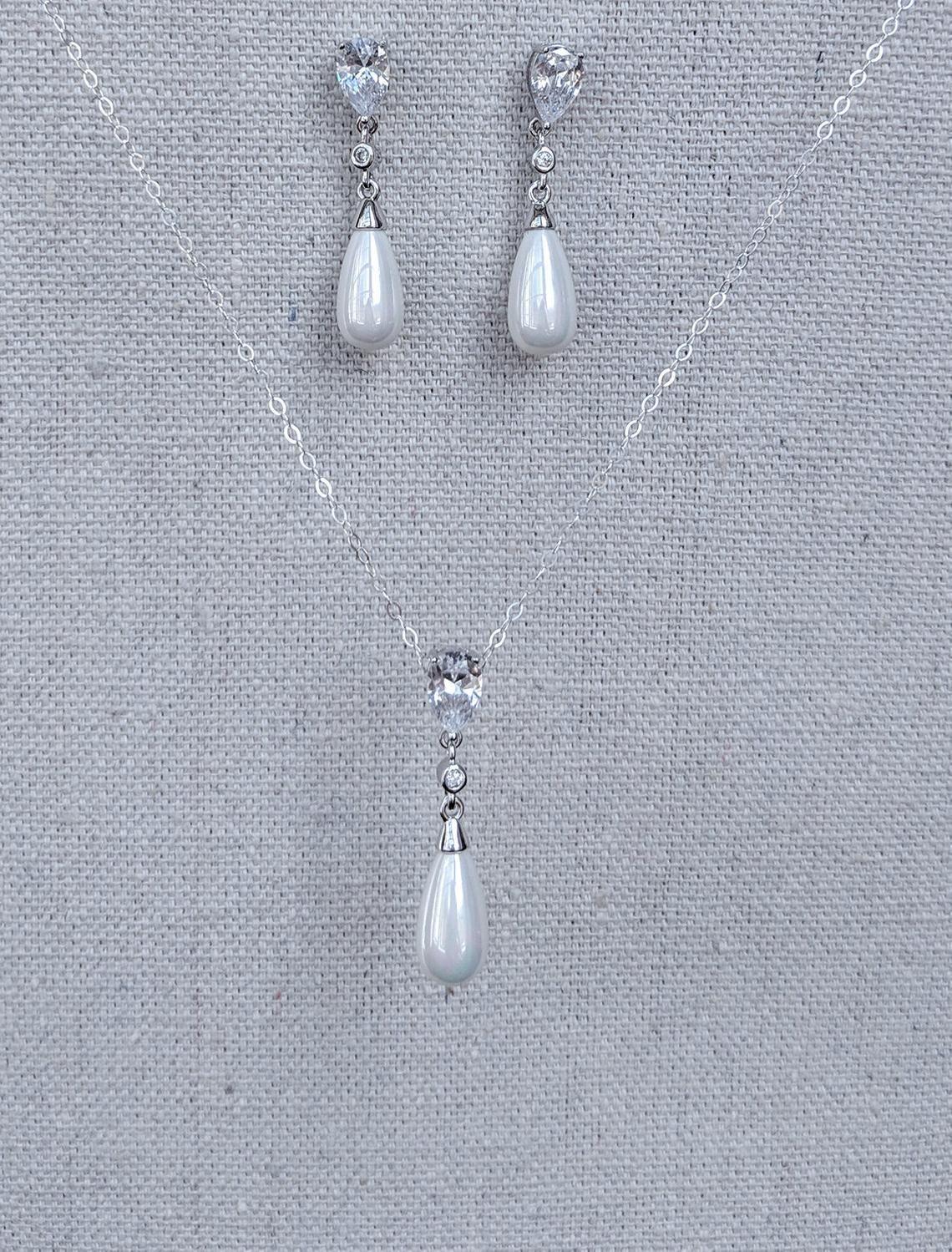 Minimalist Pearl Drop Earrings Bracelet Pendant Necklace Best ...