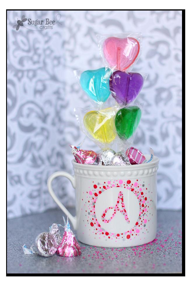 DIY Valentine Initial Mugs