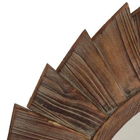 Natural Wood Pinwheel Mirror | Kirklands