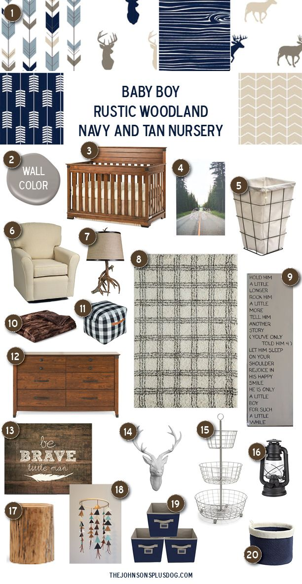 Baby Boy Rustic Woodland Nursery Inspiration - Making Manzanita