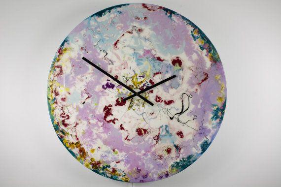 Large Wall Clock Modern Wall Light Large Circular Art Large Clock Art With Lighting Glass Clock Wall Clock With Lighting Astronomy Art Space Large Wall Clock Modern Wall Clock Unique Wall