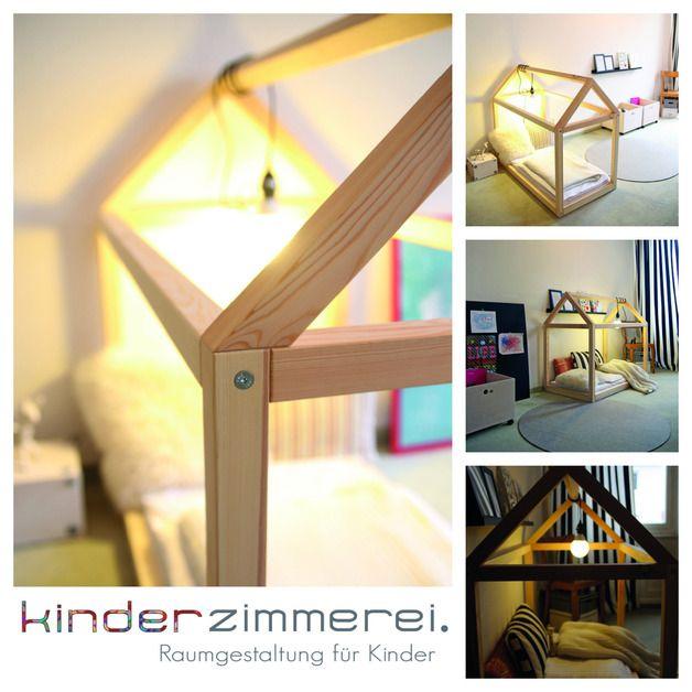 Kinderbett spielhaus  Kinderbetten - Das Häusle - Spielhaus und Kinderbett - ein ...