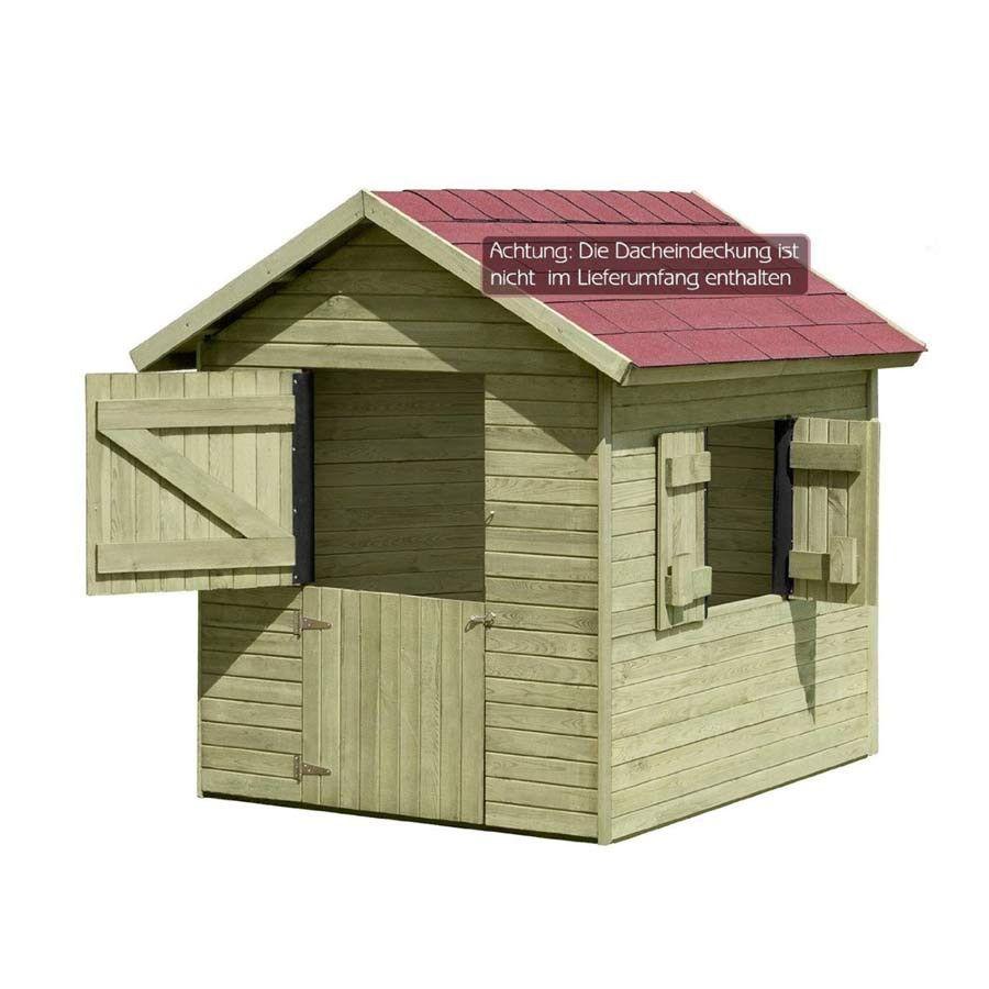 Spielhaus Marie Gartenhaus 150 x 120 cm aus Holz für