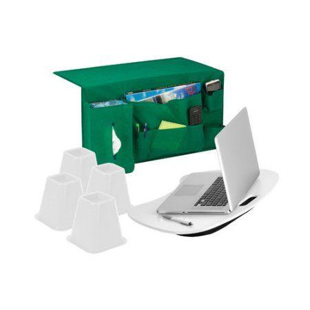 Honey Can Do Bedside Set Lap Desk Bed Risers Bedside Buddy Walmart Com Honey Can Do Lap Desk Bedside Caddy