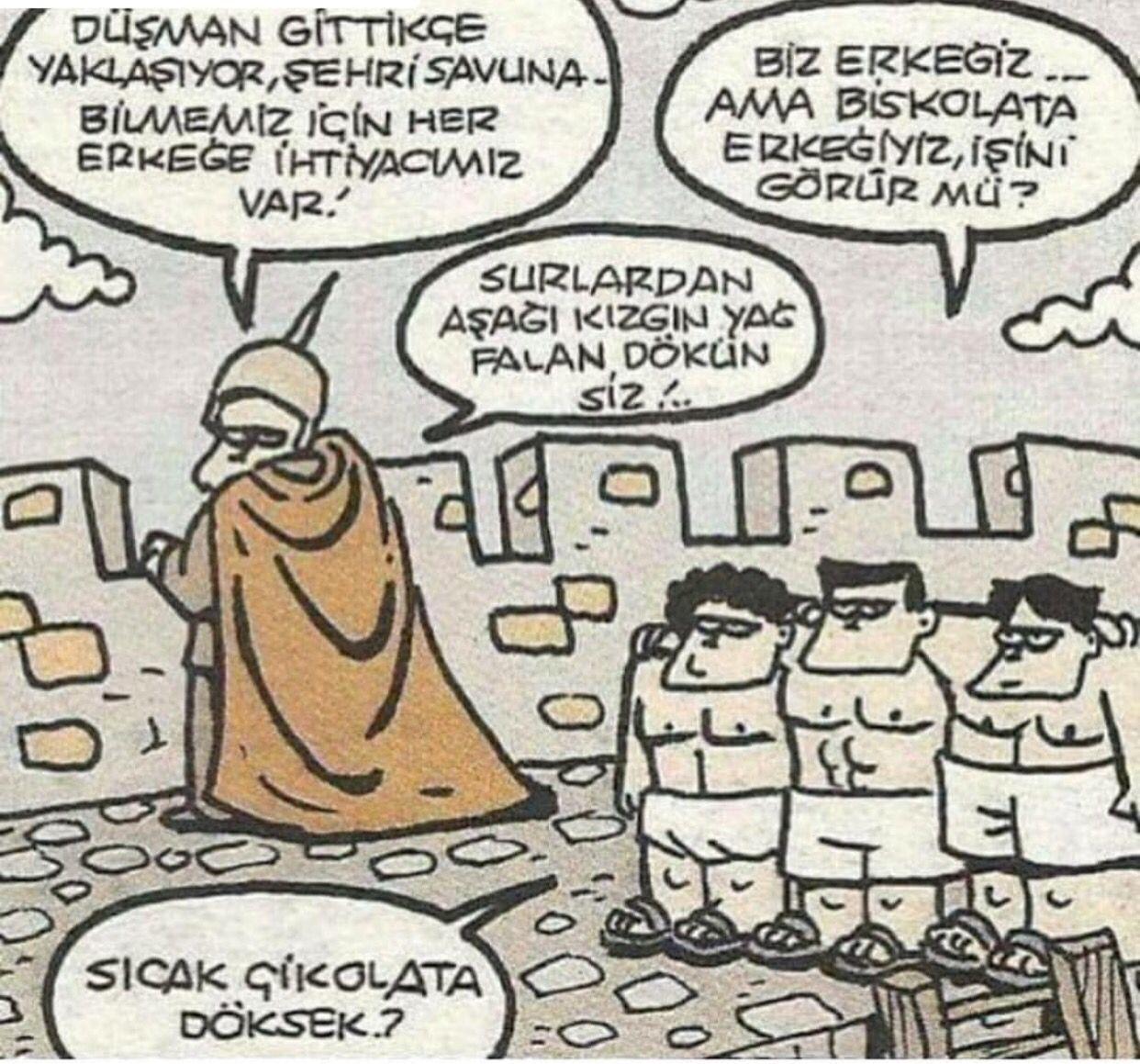 Biscolata Erkekleri Karikatur Komik Mizah