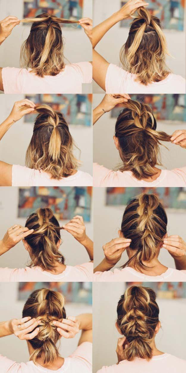 Schnell und einfach kurze Frisuren #easyhair