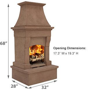 Peachy Rutherford Outdoor Wood Burning Fireplace Napa Collection Download Free Architecture Designs Scobabritishbridgeorg