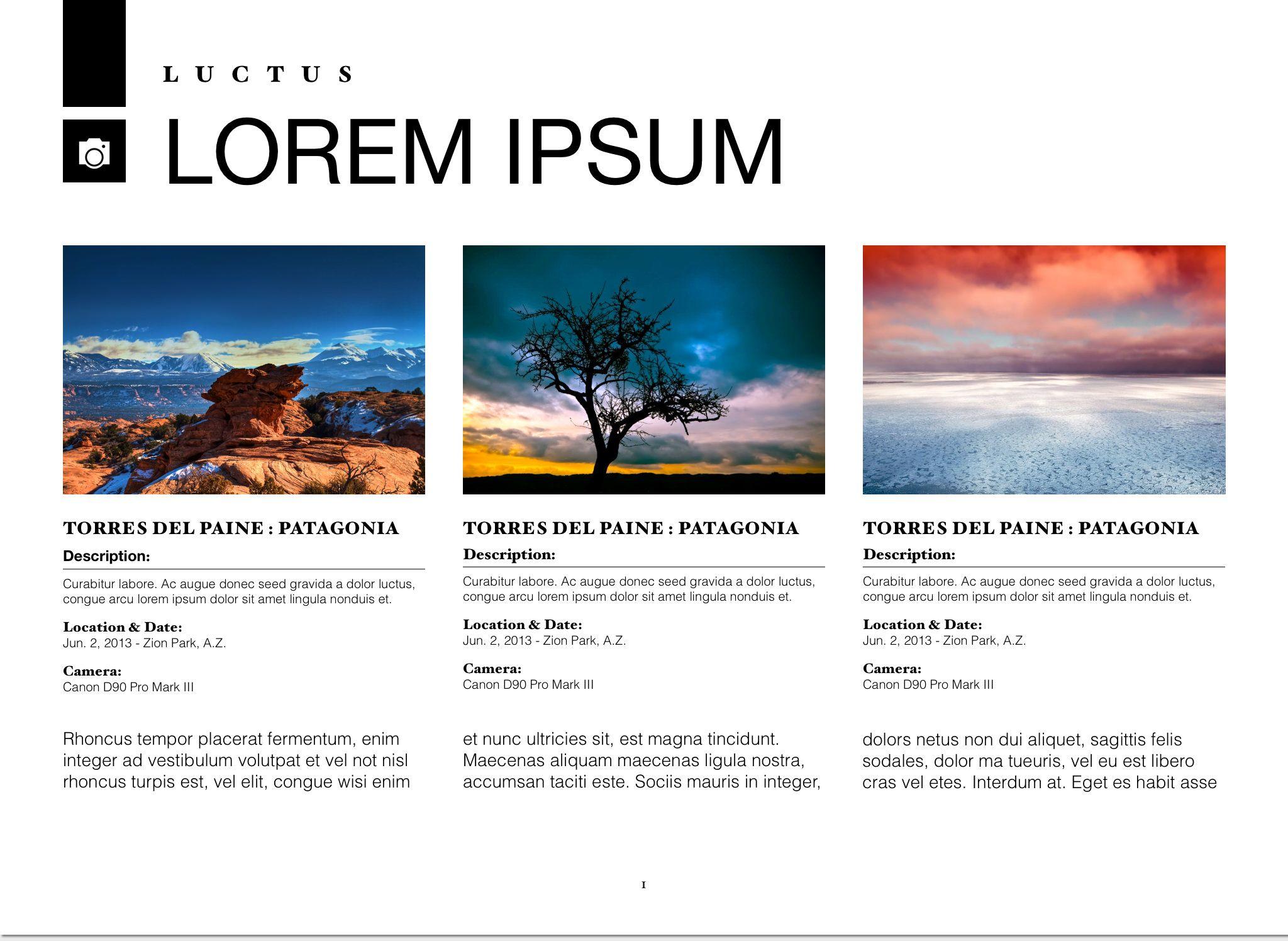 Plantilla Photo Pro para iBooks Author, disponible en http ...
