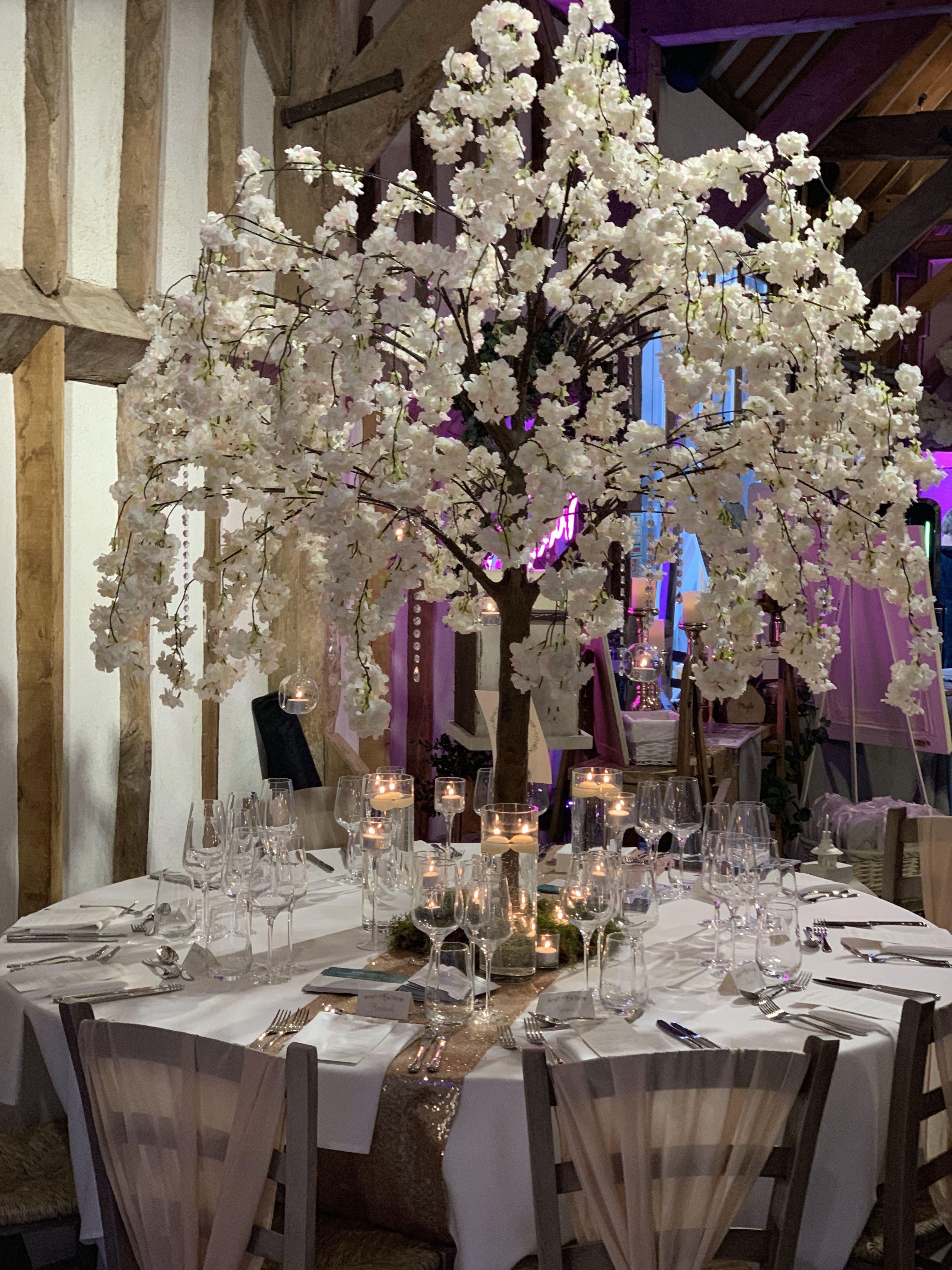 Cherry Blossom Tree Centrepiece Tree Centerpieces Wedding Centerpieces Floating Candles Wedding