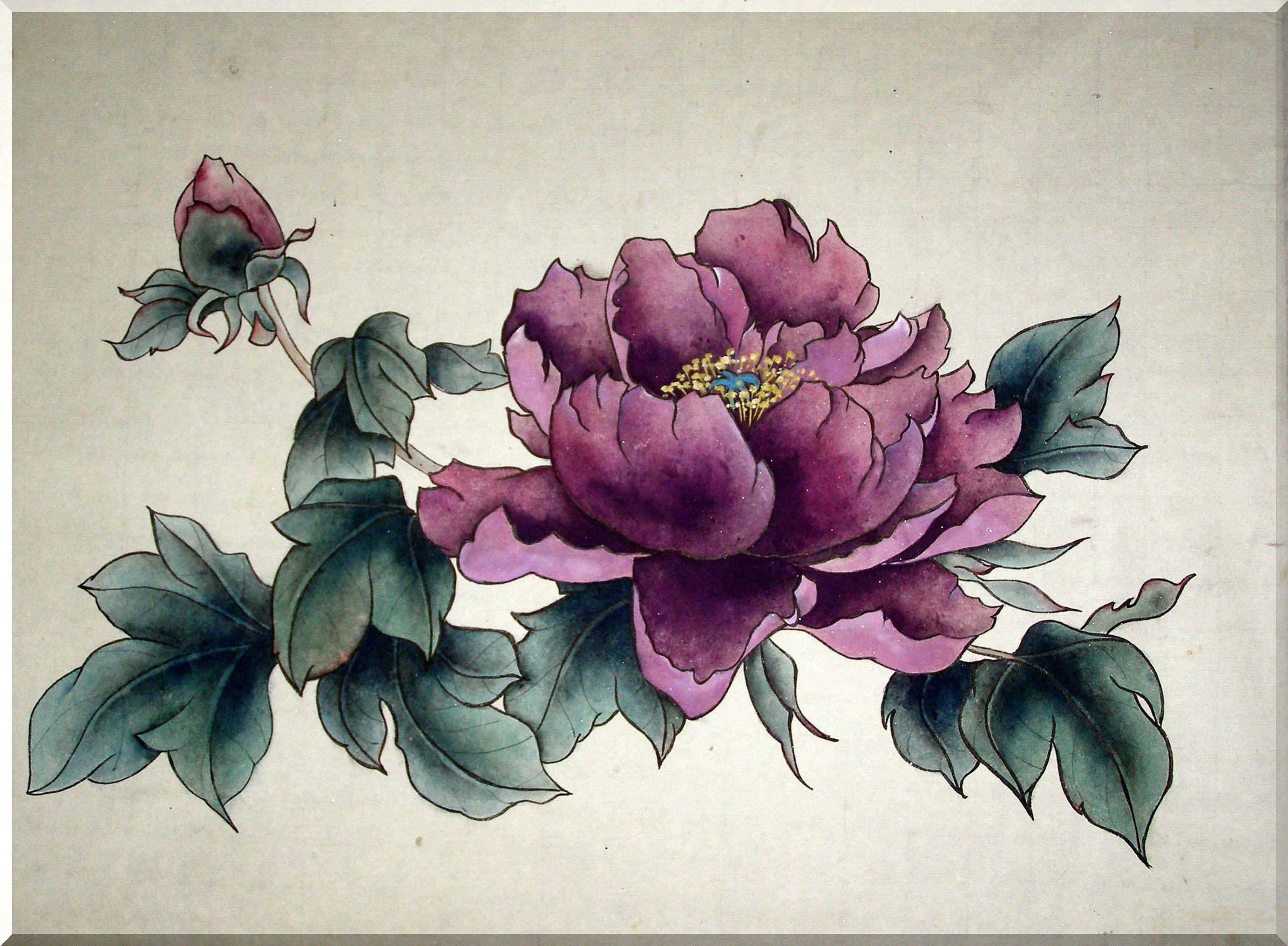 пионы китайская живопись - Поиск в Google (с изображениями ...