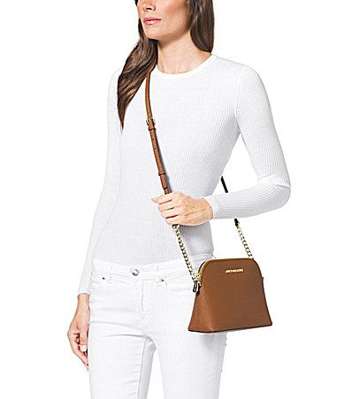 03e394ff77d1 MICHAEL Michael Kors Cindy Saffiano Large Dome Crossbody Bag #Dillards