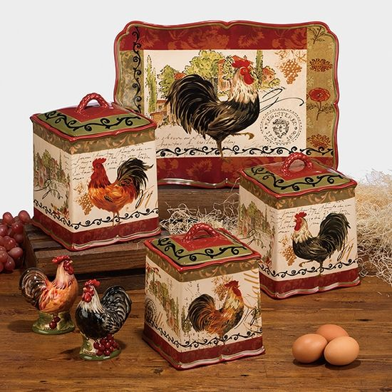 Tuscan Rooster Decor Collection
